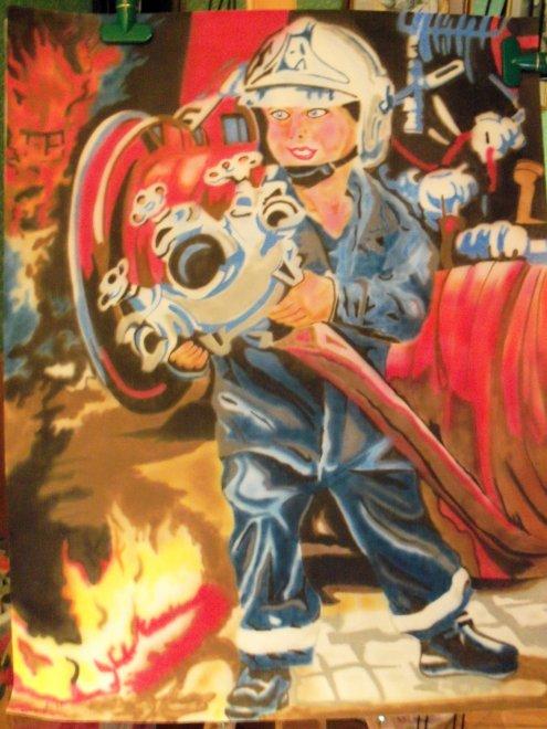 bonsoir   voila un futur cadeau petit sapeur pompier
