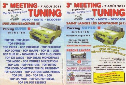 3e meeting pour le CLUB  des Motors tuning cars