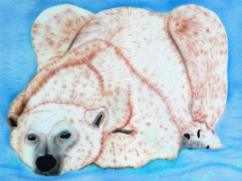 ours sur toile