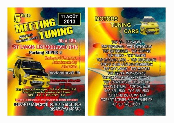 le MEETING DES MOTORS TUNING  CARS  LE  11 AOUT 2013