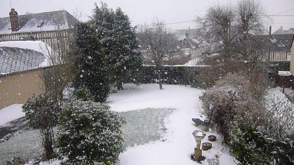 la neige chez moi