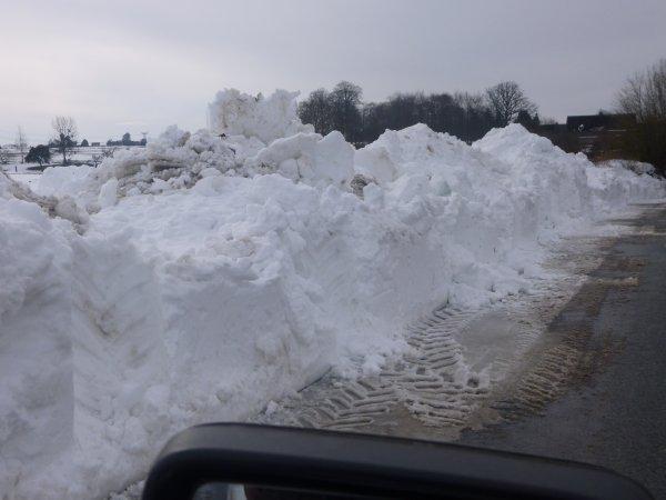 normandy snow road
