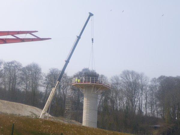 chantier viaduc de la scie
