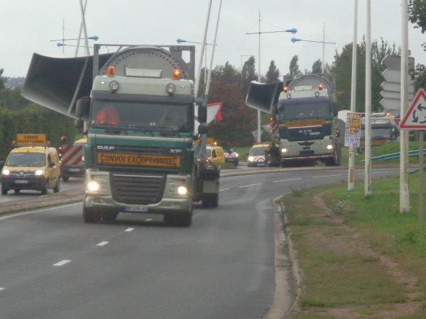 convoi pales d'eoliennes Bolk