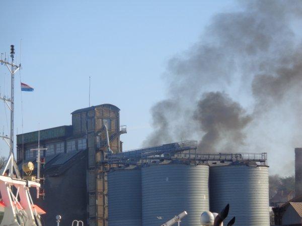 Explosion et feu - usine saipol dieppe 1