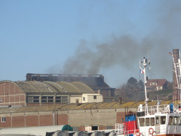 Explosion et feu - usine saipol dieppe 2