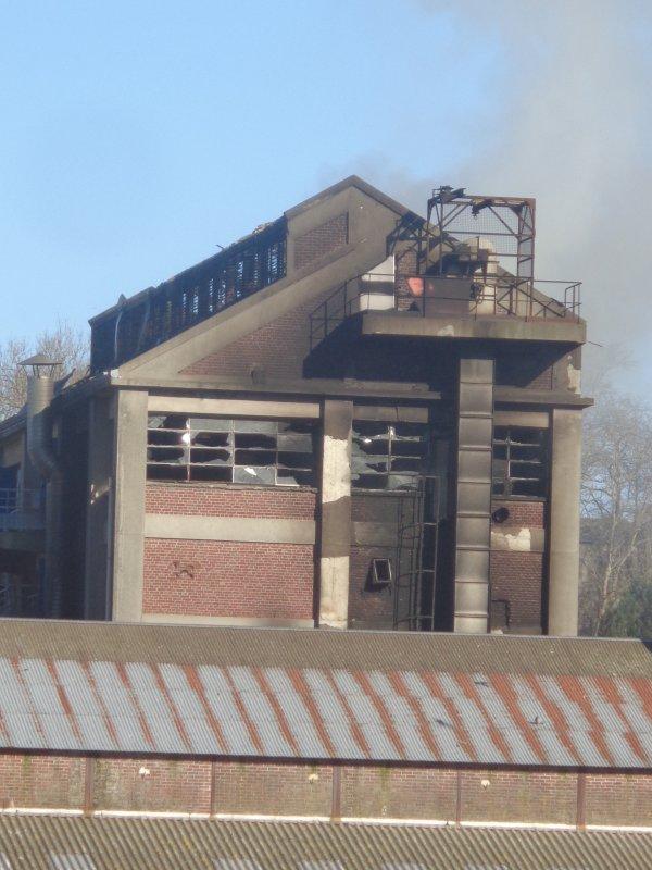 Explosion et feu - usine saipol dieppe 3