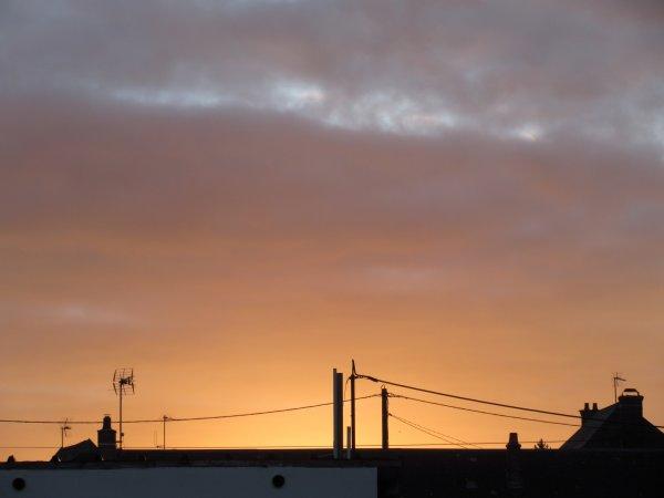 paysage de normandie, au matin