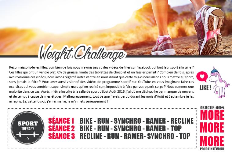 WEIGHT CHALLENGE