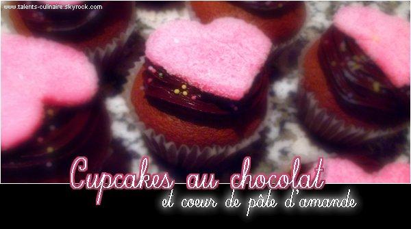 _________« Talents-culinaire.skyrock.com ♥ » __ARTICLE .02. : Cupcake au chocolat et coeur de pâte d'amande