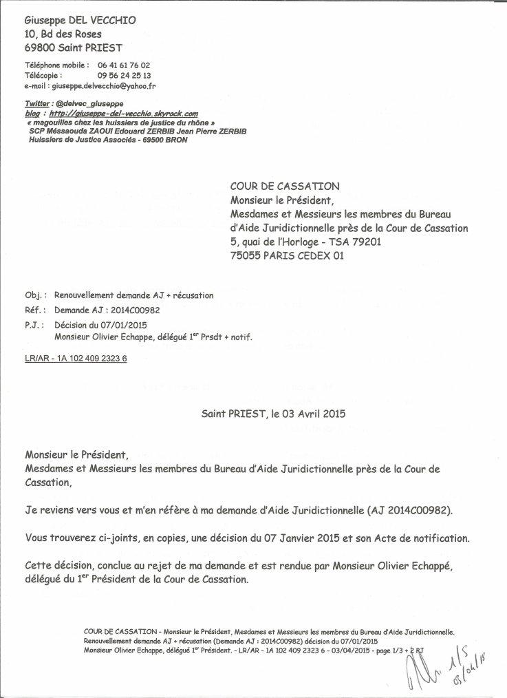 Cour de cassation monsieur le pr sident mesdames et - Bureau d aide juridictionnelle marseille ...