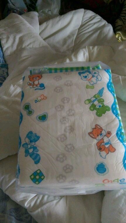 Mes nouvelle couches offert par maman aussi