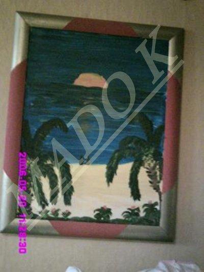 toiles a vendre coucher de soleil a la plage