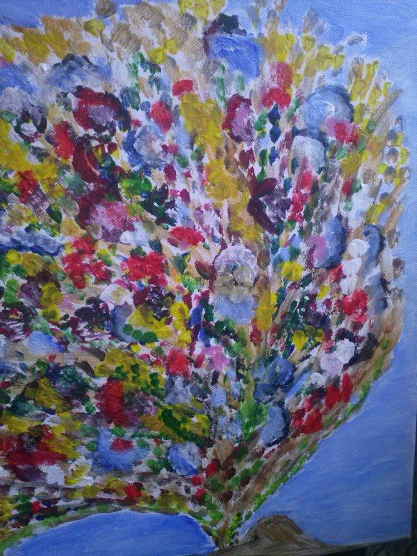flopper de fleurs en couleur