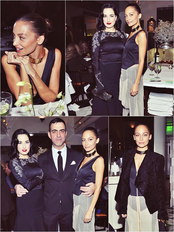 * ● EVENT 2014 : First apparence of Nicole Richie ● *  07 Janvier 2014: Nicole a assisté au dîner privé organisé par le célèbre designer Antonio Berardi à Beverly Hills.*