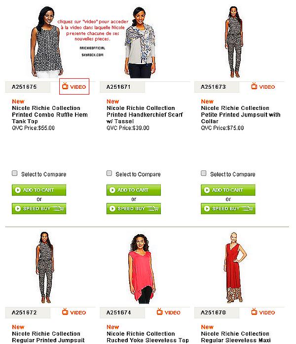 """-- """" Nicole Richie present her new pieces for the Nicole Richie Collection on QVC -- ~●~ ~●~ ~●~ ~●~ ~●~ ~●~ ~●~ ~●~ ~●~ ~●~ ~●~ ~●~ ~●~ ~●~ ~●~ -- • 10.02.2014►Nicole s'est rendue à Philadephie afin de présenter ses nouvelles pièces de la The Nicole Richie Collection pour QVC. Cliquez sur l'imprime écran ci-dessous pour accéder au site officiel de QVC afin de decouvrir les nouvelles pieces de la Nicole Richie Collection + les videos avec Nicole.--"""