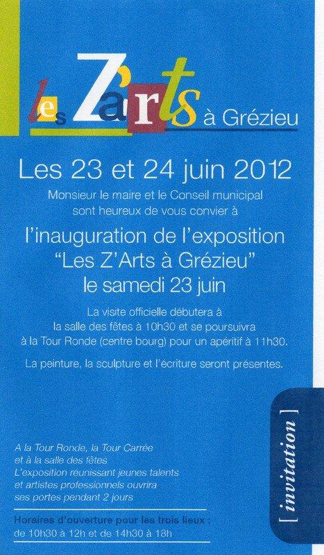 """L'EXPOSITION """"PLUMES ET PINCEAUX"""" DE L'U.E.R.A. sera présente à la 4ème Edition de """"LES Z'ARTS"""" à GREZIEU-LA-VARENNE (69590-Rhône) ce week-end, nous y serons..."""