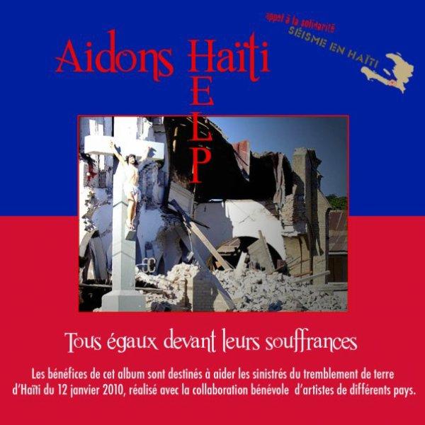 POCHETTE RECTO DE L'ALBUM POUR HAITI