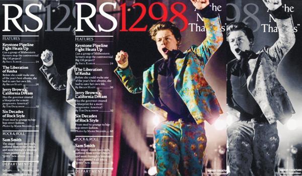 octobre 2017 | Harry Styles faisant la couverture de Rolling Stone pour Octobre 2017.