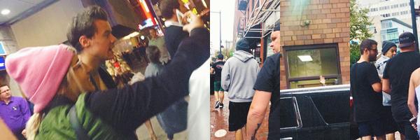 30.09 | Harry Styles a passé la journée dans Boston et a aussi posé avec des fans.