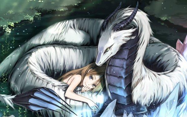 Tornade(Dragon) et Orélya(Humaine)