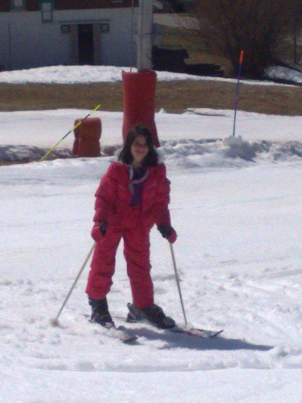 océane au station de ski