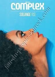 """Solange Rise pose pour """"COMPLEX"""""""