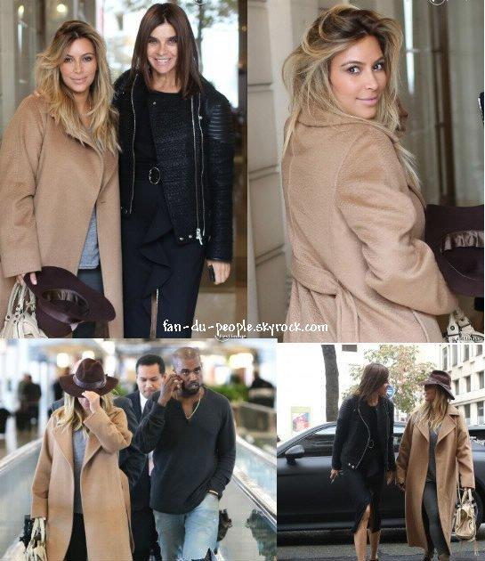 Americans in Paris ! Kim Kardashian et Kanye West à Paris, devant les locaux de Givenchy