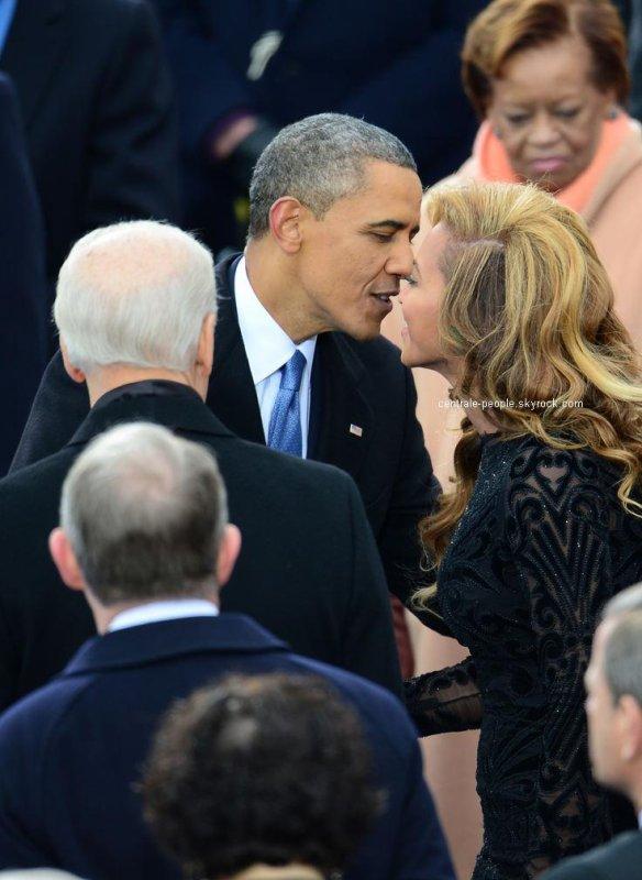 """"""" Barack obama et beyoncé """"  le jour de son investiture le 21/01/2014 photos tres contraireversee car des rumeurs disait que du 'Blabla' mais tout est Faux ..."""