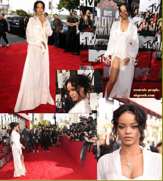 MTV MOVIE AWARDS 2014 Rihanna, Zendaya, Zac efron, Tyler possey, Nicki minaj, Bella thorne, Victoria justice, Iggy azeala, Drake bell, Jwoow et Snooki ont été photographié sur le Redcapter