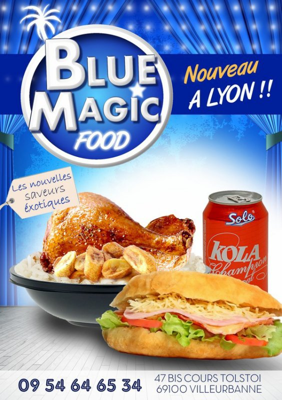 Blue Magic Food – Restaurant rapide Afro-Créoles
