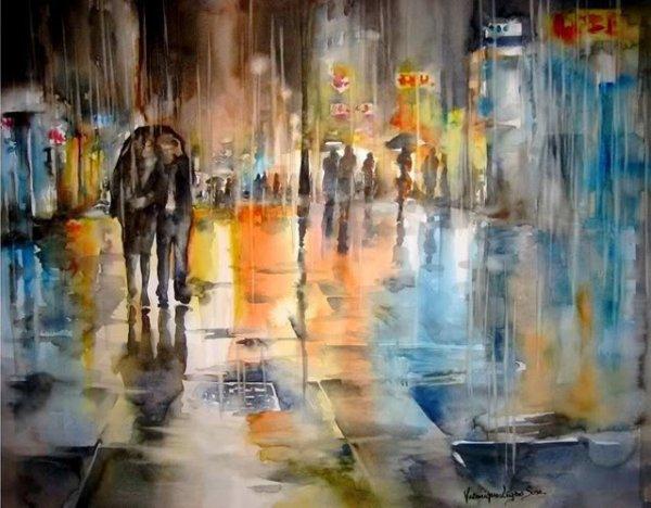 Chuva batendo***Pluie battante