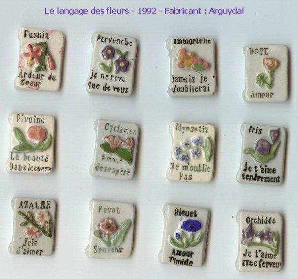 serie 636 le langage des fleurs 1992 ma petite collection de f ves. Black Bedroom Furniture Sets. Home Design Ideas