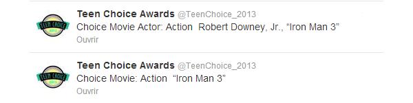 | Buzz - 12.08.2013 : nouveau teaser HTC + résultats Teen Choice 2013