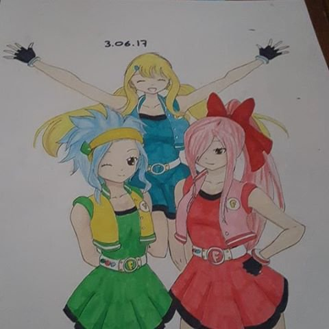 Fairy Tail x Powerpuff girl z (super nana zeta)