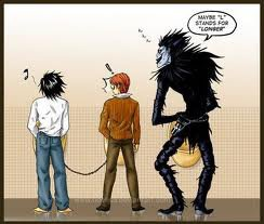 L, Light et Ryuk