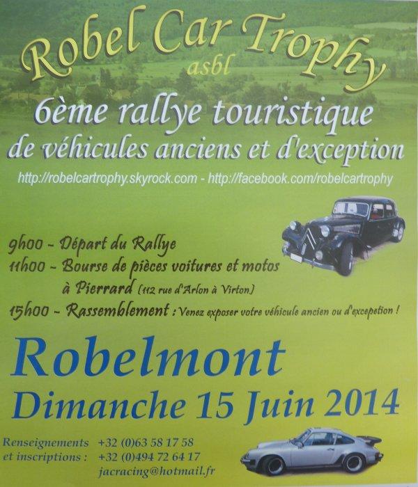 Affiche du 6 è Rallye touristique de véhicules anciens et d'exeptions. Invitation.