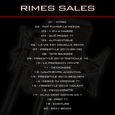 STREET ALBUM - RIMES SALES