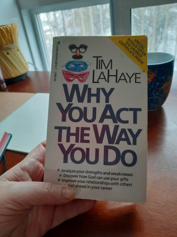 Self help book I'm currently reading.