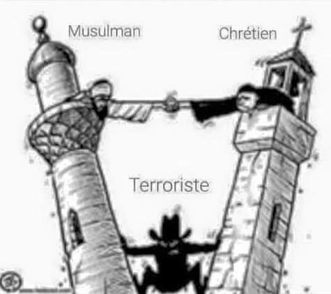 Le terrorisme n'est pas une religion !✌