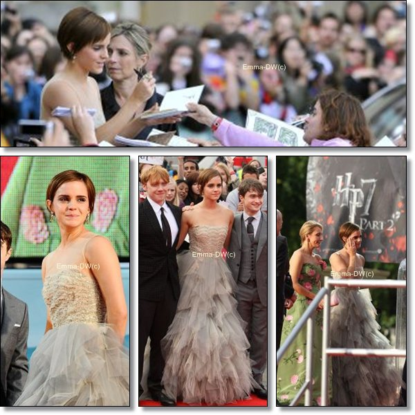 07/07/2011:Em' nous a fait un choc dans cette tenue.Elle étais sublime.Emue,elle a verser quelques larmes avec J.K.R sans qui elle ne serait sans doute pas là.Perso :Le THE top !And you ?