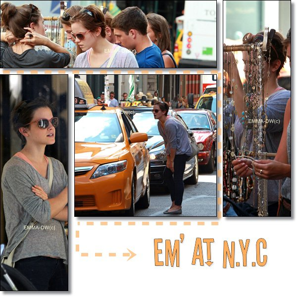 13/07/2011Emma en plein shopping a New York !