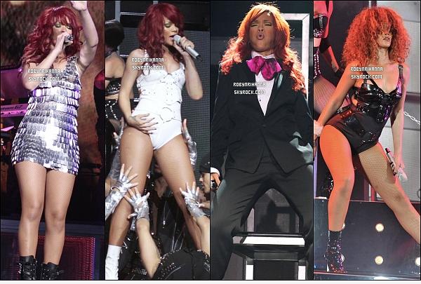 . RIHANNA ET SES PERFORMANCES EN 2011 ( PARTIE 4 ) ...  Elle a donné beaucoup de concerts cette année. Promotion, festival, tournée.. Quels sont tes lives préférés ? .