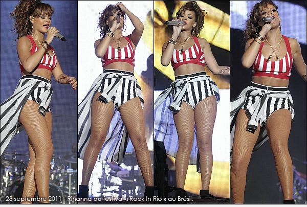 . RIHANNA ET SES PERFORMANCES EN 2011 ( PARTIE 3 ) ...  Elle a donné beaucoup de concerts cette année. Promotion, festival, tournée.. Quels sont tes lives préférés ? .