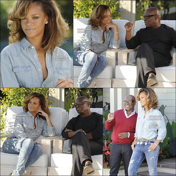 ". 12/10 - Rihanna s'est rendue au club ""Stringfellows"" accompagnée de Matt Kemp. ."