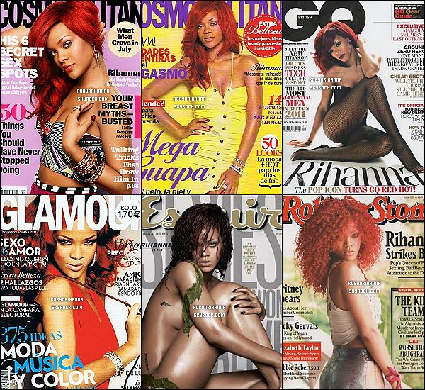 . RIHANNA ET SES COUVERTURES DE MAGAZINES EN 2011...  Durant cette année 2011, la belle a fait la une de plusieurs magazines. Quels sont tes préférées, parmis eux ?.