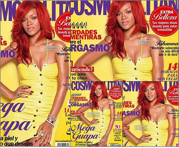 . Rih fait la couverture du mois de novembre du « Cosmopolitan » espagnol . T'aimes ? .