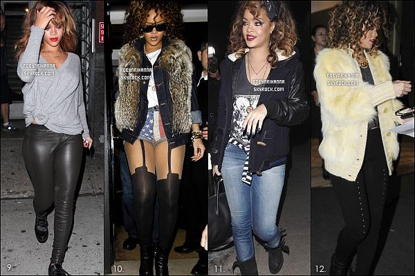 """. RIHANNA ET SES TOPS LORS DE SES SORTIES EN 2011 ...  Voici ma """" petite """" selection des meilleures tenues qu'elle a portée cette année ! Quelles sont tes préferées ?."""