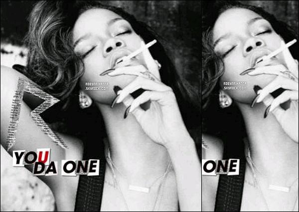. • Découvrez la pochette du tout nouveau single de Rihanna intitulé « You Da One » ! .