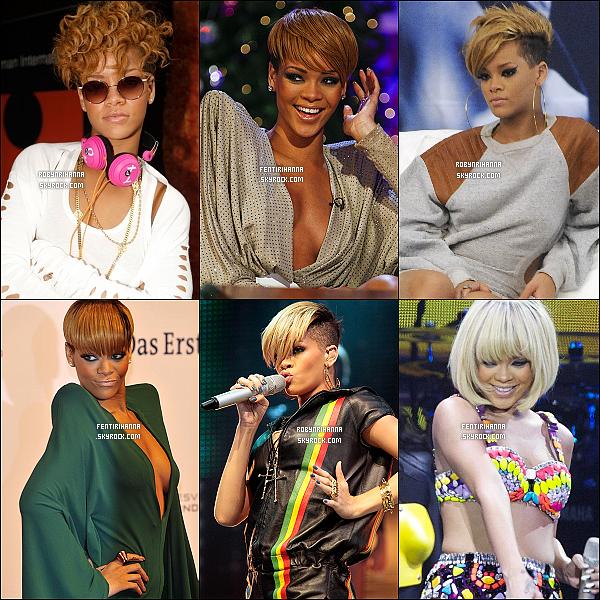 .    ● RIH' EN BLONDE C'EST PAS NOUVEAU ! QUELLE COIFFURE PRÉFÈRE TU ?    Rihanna n'arrête pas de nous surprendre avec ses couleurs de plus en plus étonnante.  Article en collaboration avec FentiRihanna ..   .